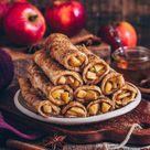 French Toast Roll-Ups mit Apfel-Zimt-Füllung (vegan)