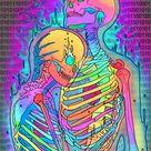 Skeleton Love 2 Framed Art Print by Phazed