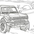 Ford Drops Coloring Pages For The 2021 Bronco And Bronco Sport