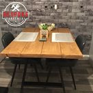 Reclaimed Dining Table - Indoor & Outdoor Table - Steel A Frame Legs Farmhouse Industrial Oak Pine