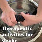 Therapeutic activities for stroke rehabilitation