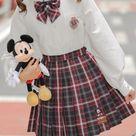 Mickey Mouse Jk Uniform Skirts