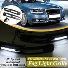 Generico 1 par de luces antiniebla LED para coche cubierta rejilla l