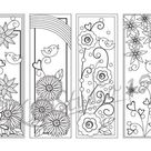 Happy Spring- Coloring Bookmarks Page,  Instant Download, Relax Mandala Designs to Color for Adults to Print and Color