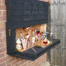 How to DIY a light up outdoor bar using pallets & solar fairy lights