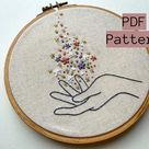Embroidery PDF Pattern Wildflower Witch Embroidery Beginner | Etsy
