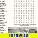 Bathroom Remodel Word Search Puzzle