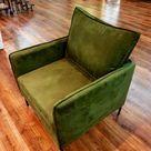 CARLOS Modern Armchair Vintage Loft Style 1+2+3 Seater Fabric Chair Metal Frame Loft Bed Living Room Furniture Retro Green Grey Orange