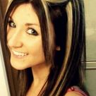 chunky highlights for dark brown hair | chunky platinum highlights in dark Brown hair. #hair #Platinum # ...