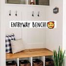 Entryway Bench!🥰