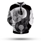 Yin Yang Hoodie<br> Skull - XXXL