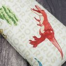Heating pad, use in microwave oven- with lavender or without lavender -dinosaur print-rice bag, heat pad - small, medium and large size