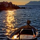 Nature boat sea sunset wallpapers hd 4k background for android