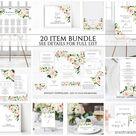 Blush Floral Wedding Invitation Template, Wedding Invitation Printable, Instant Download, Blush Wedding Invitation Set, Spring Summer, Helen