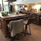 Küche Kochinsel aus Hobelbank