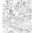 Nice Little Town: Interiors (Adult Coloring Book, Coloring pages PDF, Coloring Pages Printable, For Stress Relieving, For Relaxation)