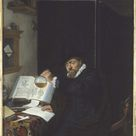 Adriaen Van Ostade, 1666 - The Analysis - fine art print - Acrylic glass print (with real glass coating) / 50x60cm - 20x24
