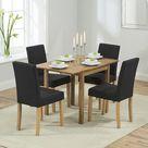 Essgruppe Nwogwugwu mit klappbarem Tisch und 4 Stühlen