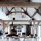 Former barn turned into a dramatic loft (Daily Dream Decor)
