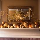 Fall Fireplace Mantel