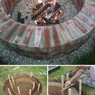 30 großartige DIY Ideen um aus ein paar Pflastersteinen eine schöne Feuerstelle günstig zu bauen – 2019 - Deck ideas