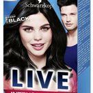 ** SCHWARZKOPF LIVE INTENSE COLOUR 099 DEEP BLACK HAIR DYE NEW ** PERMANENT