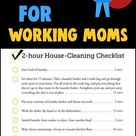 House Cleaning Checklist - Simple Cleaning Routine for Working Moms