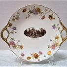 University of Michigan Vintage Commemorative Plate, University Hall, Ann Arbor, Oval Platter, Jean P