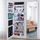 Wall Mount Full Mirror Jewelry Cabinet Armoire Makeup Cosmetic Large Organizer    eBay