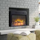 Symple Stuff Burchett Electric Fireplace Insert Black 18.13 x 24.0 x 7.0 in | Home Decor | Wayfair Canada