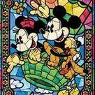 Mickey and Minnie in Hot Air Balloon Crystal Rhinestone 5D Diamond Painting Kit 12