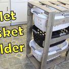 DIY Laundry Basket Holder  Organizer - Pallet Projects