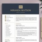 Professional Resume Template | Resume Template for Word and Pages | CV Template + Cover Letter | Mod