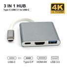 3 in 1 USB 3.1 Type-C to 4K UHD HDMI-compatible USB-C Hub Adapter Converter for Macbook