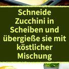 Gefüllte Zucchini Hackfleisch Rolle mit Cheddar