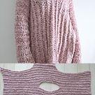 Crochet Velvet Tunic Pattern, Crocheted Sweater Pattern Using Bernat Velvet Yarn