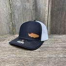 SALMON FISHING LEATHER PATCH HAT - RICHARDSON 112 - Black/White