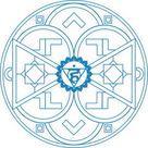 Vishuddha Chakra Mandala coloring page   Free Printable Coloring Pages