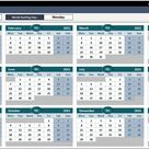 Excel Calendar Template 2020-2030 - Dynamic Spreadsheet Template | Calendar | Calendar Template 2022 | Dynamic Calendar Template