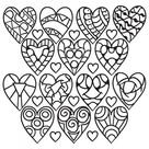 Hearts Coloring Pages for Adults - Best Coloring Pages For Kids