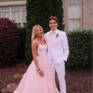 SP1037,Pink Spaghetti Straps Sweet 16 Prom Floor Length Tulle Formal Dress