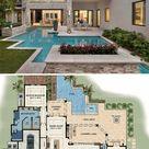 Two-Story 4-Bedroom Modern Florida Home (Floor Plan)
