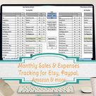 Monthly Budget Spreadsheet Home Finance Management Excel   Etsy
