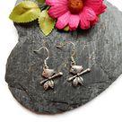 Bird Earrings, Bird Jewelery, Bird Lover Gift, Bird Watcher Gift, Silver Bird Earrings, Cute Jewelery, Gift For Mum