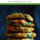 Low Carb Gemüsepuffer mit Knoblauch-Kräuter Dip | Low Carb Küche