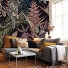 Tropical Wildlife - removable wallpaper, design, wall covering, reusable, aloha, animals, bird, trop