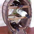 Massivholz Weinregal Weinfaß regal 26 Flaschen haus bar braun kolonial nussbaum • EUR 171,00