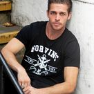 Tattoo Anchor T-Shirt - Black / 4XL
