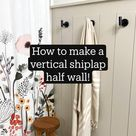 How to make a vertical shiplap half wall