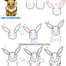 How to Draw Eevee from Pokemon with Easy Step by Step Drawing Tutorial - How to Draw Step by Step Drawing Tutorials